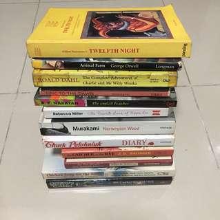 Various literature books