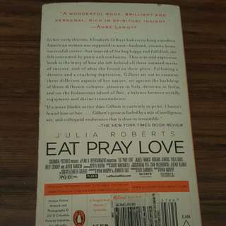 Books - eat pray and love