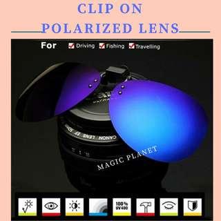 Clip On Kacamata Universal - Lensa Black Polarized