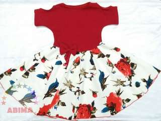 Dress sabrina anak size s-m uk 6bln_5th