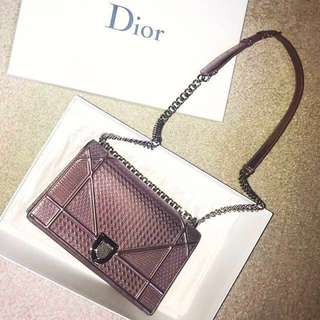 ✨Dior Diorama Medium metallic rose gold chain bag 🌹