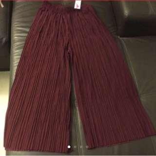Plus Size Wide Leg Pants  (Free Size)