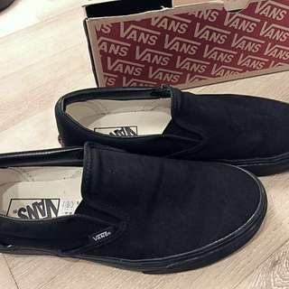 🚚 Vans 經典款全黑懶人鞋 Slip-on