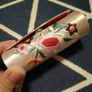 Repriced: New embroidered lipstick case