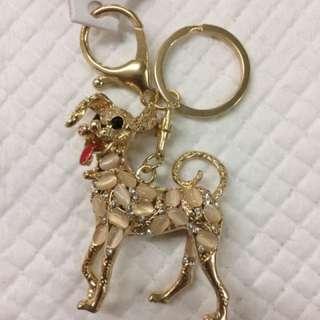 Dog bagcharm keychain