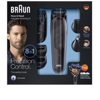 Braun Multi Grooming Kit MGK3060 – 8-in-1 Hair / Beard Trimmer for Men, Face and Head Trimming