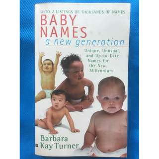 Baby Names a New Generation