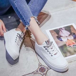 Free Delivery Ladies Casual Streetwear Lace Up Platform Sneakers