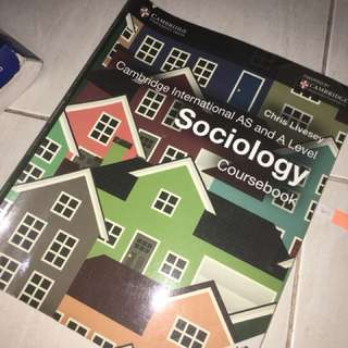 Sociology as and a level