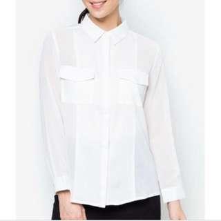 Zalora Panelled shirt with pockets