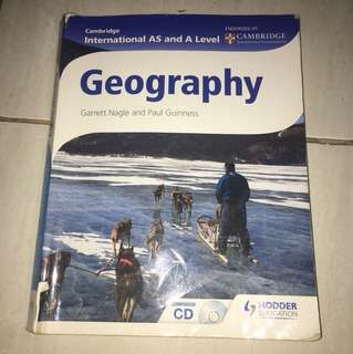 Geography Cambridge as and a level