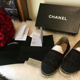 Chanel espadrilles wool Rrp $900