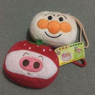 Winnie the Pooh/ 士多啤梨麥兜/ 面包超人零錢包 環保袋
