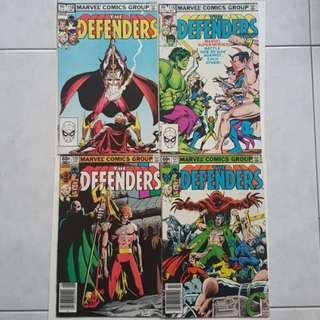 Marvel Comics Defenders 118, 119, 120 and 121 Fine/Very Fine Condition Netflix TV Show Bronze Age