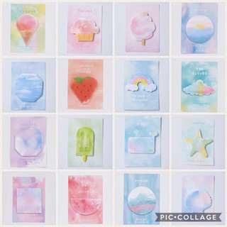 Watercolor sticky notes/ postit