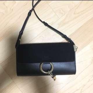 Chloe Faye bag wallet in chain woc mini