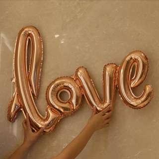 鋁膜氣球(香檳金) Love Balloon