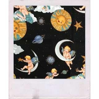 Vintage angel print tapestry