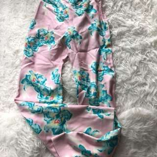 New Versace pink floral print pants Uk10
