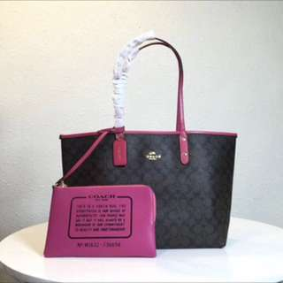 Authentic Coach women Handbag Shoulder Bag city tote