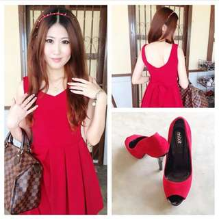Knee Length Red Dress