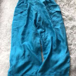 New Emilio pucci Blue Silk Pants Uk10