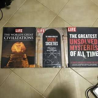 LIFE informational books (3 for $5)