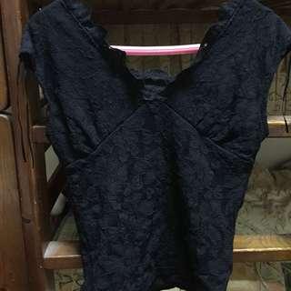 🚚 歐美黑色無袖蕾絲性感上衣#舊愛換新歡