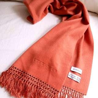 (Very soft)100%Cashmere Givenchy Vintage Scarf 圍巾 頸巾