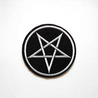Occult Star Pentagram Iron On Patch