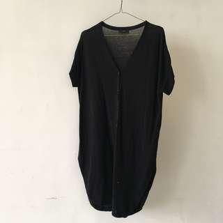 COS 瑞典品牌 黑色針織素面簡約洋裝