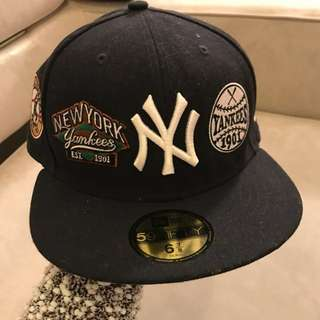 Real New york yankees black baseball cap