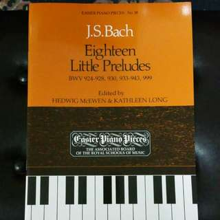 J. S. Bach Eighteen Little Preludes ABRSM