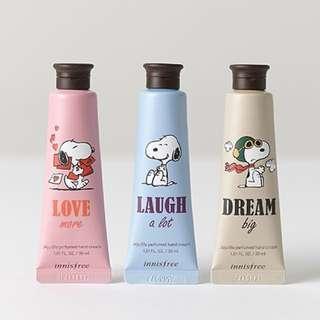 Innisfree x Snoopy Jeju Life Perfumed Hand Cream