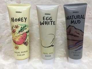 Egg white face mask natural mud face mask honey facial scrub cream