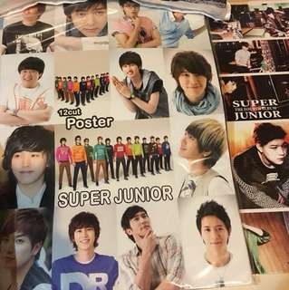 2 sets of Super Junior posters
