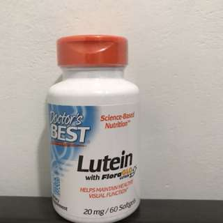 Doctor's Best, lutein with FloraGLo lutein, 葉黃素, 20mg, 60軟膠囊
