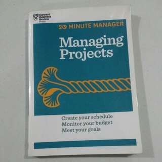 20 minutes manager: Managing Projects