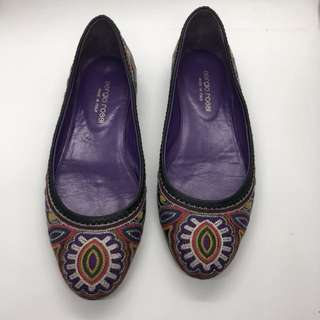 SERGIO ROSSI Embroidered Detailed Flats