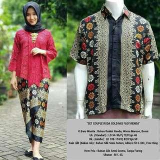Baju couple kebaya batik