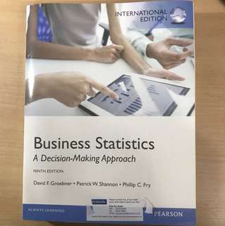 Business Statistics (A Decision-Making Approach)