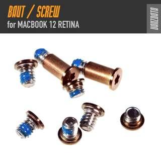 BAUT SCREW untuk MACBOOK 12 Retina 1 Set (8 pcs)