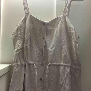 文青吊帶裙