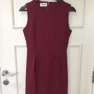 This is April Maroon Dress