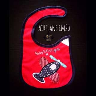 Airplane Snap On Bib