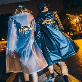 潮牌防水雨衣韩版街头潮流透明防晒衣情侣装男女ins雨披冲锋衣潮