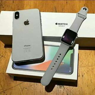 New iPhone X 256GB with Apple Watch