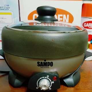 *二手 SAMPO 聲寶 二合一火烤兩用爐 一機兩用 火鍋 鐵板燒 燒烤 TQ-L4191GL*