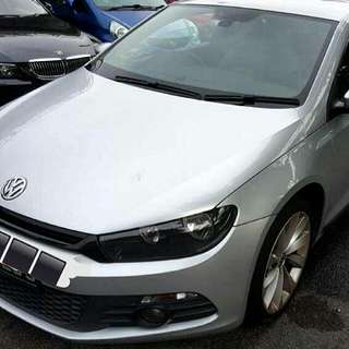 VW SIROCCO 1.4 TSI DSG Auto Transmission  TURBOCHARGED  2012 Status :🇸🇬 ( S'PORE )  Excellent Condition   For Spare Parts Or Track Use.   Interested Pls Click 👇 ( CHAT )