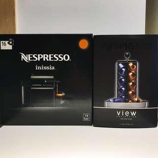 Nespresso Inissia 咖啡機連 VIEW totem 透明 咖啡粉囊盛放器